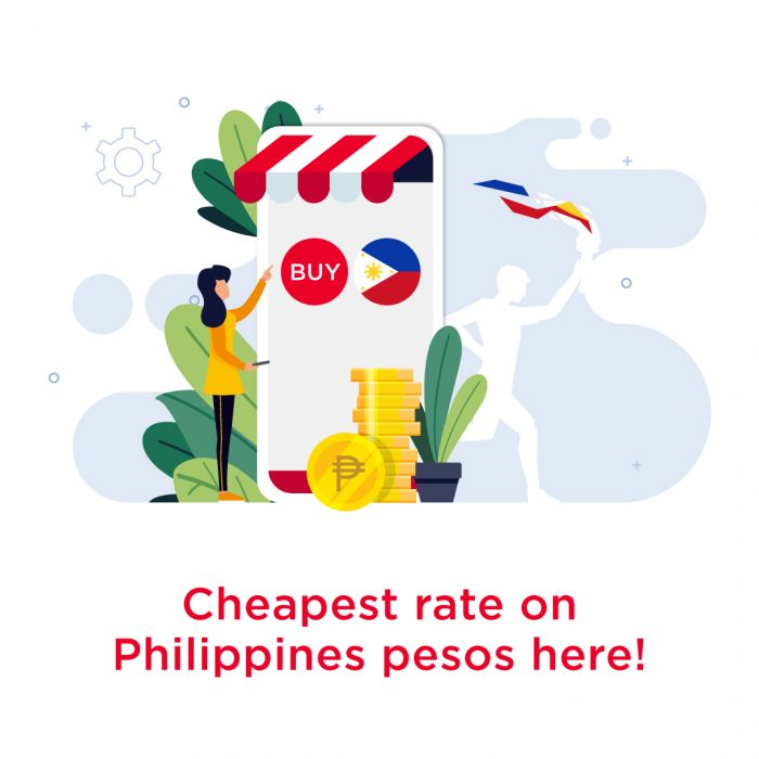 Cheapest rate on philippines pesos here